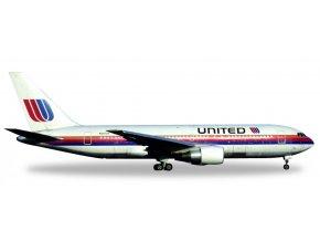 Herpa - Boeing  B 767-222ER, dopravce United Airlines, USA, 1/500