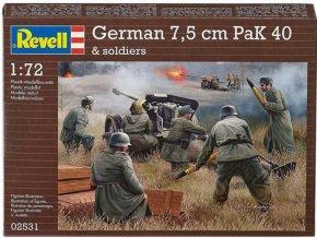 Revell - dělo 7,5 cm PaK 40 s vojáky, 1/72, Plastic ModelKit figurky 02531