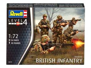 Revell - britská pěchota, moderní éra, 1/72, Plastic ModelKit figurky 02519