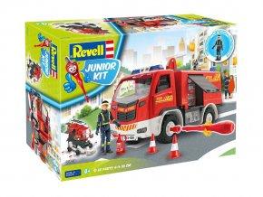 Revell - Hasičské auto s figurkou -  Junior Kit auto 00819 - 1/20
