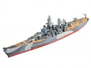 Revell - bitevní loď USS Missouri, ModelSet 65128, 1/1200