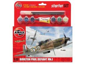 Airfix - Boulton Paul Defiant, nová forma, Starter Set A55213, 1/72