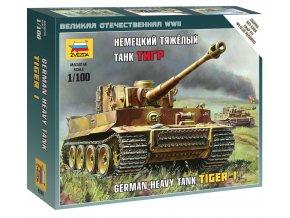 Zvezda - Pz.Kpfw.VI Tiger I, Wargames (WWII) 6256, 1/100
