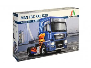 Italeri - tahač Man TGX XXL D38, 1/24, Model Kit 3916