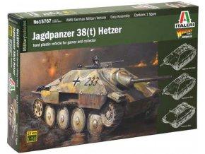 Italeri - Jagdpanzer 38(t) Hetzer, Wargames tank 15767, 1/56