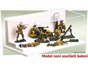 Trumpeter - průhledná krabička na model s podstavcem, 23,2 x 12 x 8,6 cm
