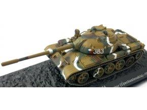 Altaya - Tank T-54, československá armáda, sektor Vltava, 1978, 1/72 - SLEVA, poškozená krabička