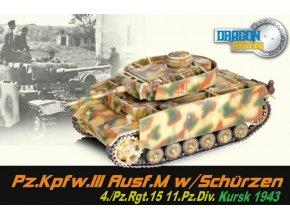 Dragon - Panzer III., Ausf.M, 11.Pz. divize, Kursk, 1943, 1/72