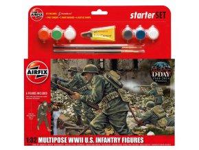 Airfix - figurky US Army, 2. světová válka, Starter Set figurky A55212, 1/32