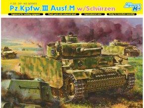 Dragon - Panzer III. Ausf.M  s bočním pancířem, Model Kit 6604, 1/35