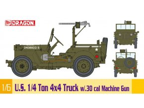 Dragon - Jeep Willys s .30 cal kulometem, Model Kit military 75050, 1/6