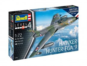 Revell - Hawker Hunter FGA.9, výročí 100 let RAF, ModelKit 03908, 1/72