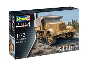 Revell - Sd.Kfz.7 (Late Production), Plastic ModelKit 03263, 1/72