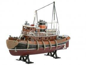 Revell - přístavní remorkér, ModelSet loď 65207, 1/108