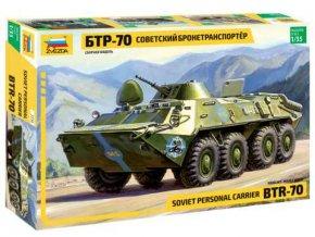 Zvezda - transportér BTR-70, 1/35, Model Kit 3556
