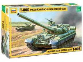 Zvezda -  T-80B, Model Kit 3590, 1/35