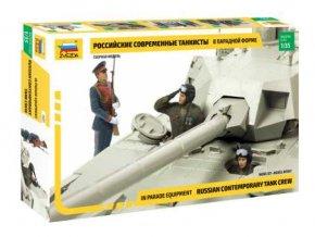 Zvezda - figurky ruská posádka tanku - moderní, Model Kit figurky 3685, 1/35