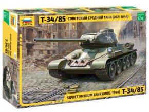 Zvezda - T-34/85, Model Kit 3687, 1/35
