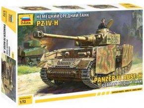 Zvezda -  Panzer IV Ausf.H s bočním pancířem, Model Kit 5017, 1/72