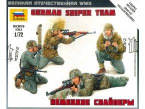 Zvezda - figurky němečtí odstřelovači, Model Kit figurky 6217, 1/72