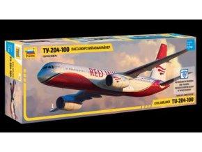 Zvezda - Tupolev Tu-204-100, Model Kit letadlo 7023, 1/144