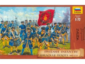 Zvezda - figurky švédská pěchota 1687 - 1721, 1/72, Model Kit figurky 8048