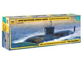 """Zvezda - jaderná ponorka """"Yury Dolgorukiy"""", Model Kit 9061, 1/350"""