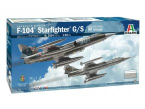 Italeri - F-104 Starfighter G/S, Model Kit 2514, 1/32