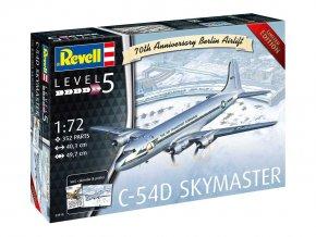 Revell - Douglas C-54 Skymaster, 70. výročí Belínského vzdušného mostu, Plastic ModelKit letadlo 03910, 1/72