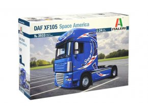 Italeri - DAF XF105 Space America, Model Kit truck 3933, 1/24