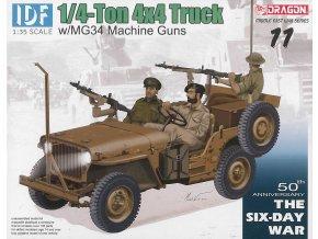 Dragon - Jeep Willys s kulomety MG34, Izraelské obranné síly, Model Kit military 3609, 1/35