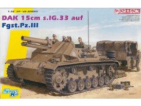 Dragon - 15cm s.IG.33 auf Fgst.Pz.III, Afrika Korps, Model Kit tank 6904, 1/35