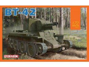Dragon - samohybné dělo BT-42, Model Kit tank 7565, 1/72