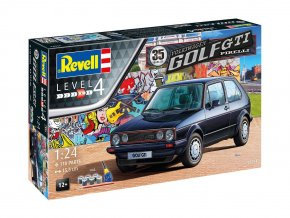 Revell - VW Golf 1 GTi Pirelli, 35 Years, Gift-Set auto 05694, 1/24