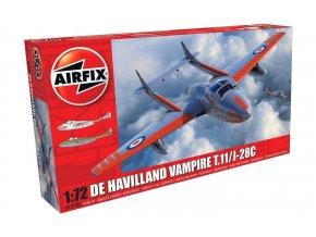 Airfix - deHavilland Vampire T.11 / J-28C, Classic Kit letadlo A02058A, 1/72