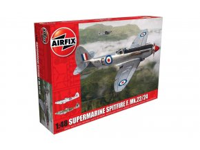 Airfix - Supermarine Spitfire F.Mk 22 / 24, Classic Kit letadlo A06101A, 1/48