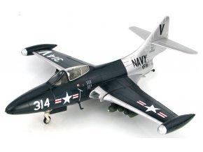 HobbyMaster - Grumman F9F-5 Panther, US NAVY, USS Lake Champlain, VF-111 Sundowners, V314 Vice Versa, 14.července 1953, 1/48
