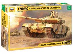 Zvezda - T-90 MS, ruská armáda, Model Kit 3675, 1/35