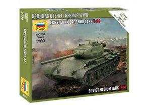Zvezda - T-44, sovětská armáda, Model Kit tank 6238, 1/100