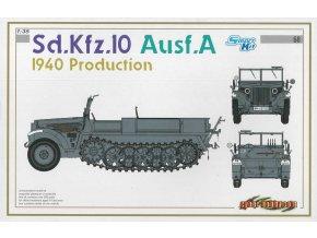 Dragon - polopásové vozidlo Sd.Kfz.10 Ausf.A, 1940, Model Kit 6630, 1/35