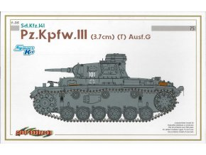 Dragon - Pz.Kpfw. III Ausf.G (3.7cm) (T), Model Kit tank 6765, 1/35