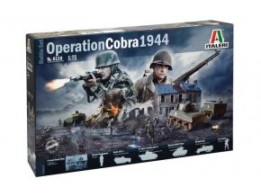 Italeri - diorama operace Cobra, průlom z Normandie, 1944, Model Kit diorama 6116, 1/72