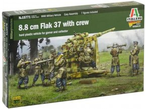 Italeri - 8.8 cm Flak 37, Wargames military 15771, 1/56