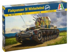 Italeri - Flakpanzer IV Wirbelwind, Model Kit military 7074, 1/72