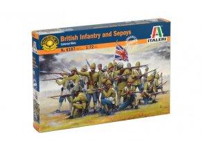 Italeri - figurky britská pěchota a Sepoys, Model Kit 6187, 1/72
