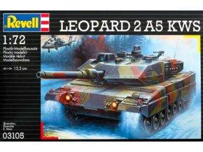 Revell - Leopard 2 A5 KWS, Plastic ModelKit 03105, 1/72