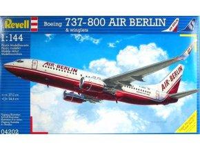 Revell - Boeing 737-800, dopravce Air Berlin / Sobelair, Plastic ModelKit 04202, 1/144