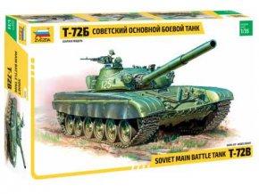 Zvezda - T-72B sovětský hlavní bojový tank, Model Kit tank 3550, 1/35
