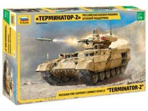 """Zvezda - vozidlo k ochraně tanků BMPT """"Terminator 2"""", Model Kit tank 3695, 1/35"""