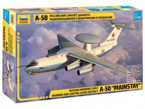 """Zvezda - Beriev A-50 """"Mainstay"""", Model Kit letadlo 7024, 1/144"""